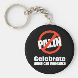 ANTI-PALIN - Celebrate American Ignorance Basic Round Button Key Ring