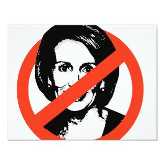 Anti-Pelosi / Anti-Nancy Pelosi 11 Cm X 14 Cm Invitation Card