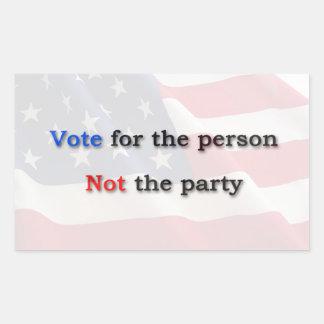 Anti Political Party Sticker