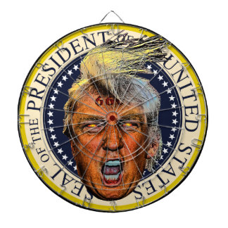 Anti President Trump Big Mouth Devil Dart Board