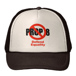 ANTI PROP 8 - Defend Equality Trucker Hat