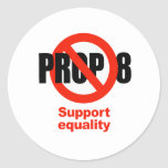 ANTI PROP 8 - Support Equality Round Sticker
