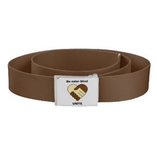 Anti racism theme belt