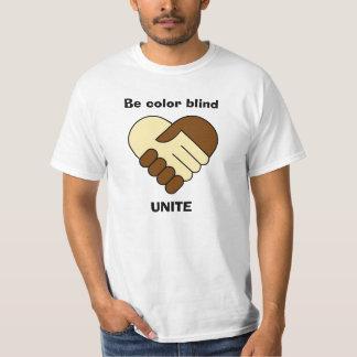 Anti racism theme man's shirt