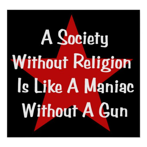 Anti-Religion Quote Poster