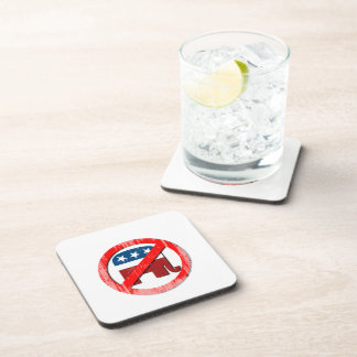 Anti-Republican 3D Faded png Drink Coasters