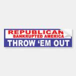 Anti-Republican -  Bankrupted America Bumper Sticker