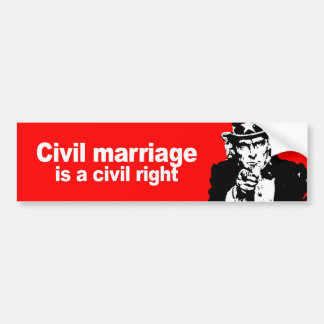 Anti-Republican - Civil marriage is a civil right Bumper Sticker