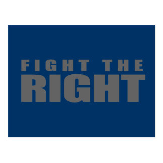 Anti-Republican- Fight the Right Postcards