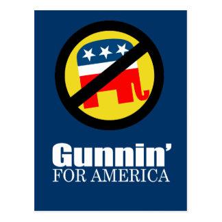 Anti-Republican - Gunnin' for America Postcards