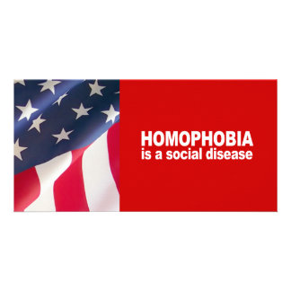 Anti-Republican - Homophobia is a social disease Photo Card Template