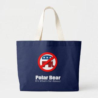 Anti-Republican - Polar Bear for dinner Bags