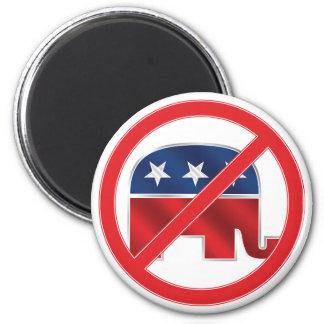 Anti-Republican Round Magnet