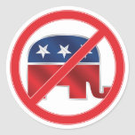 Anti-Republican Round Sticker