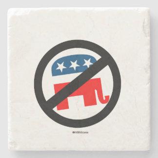 Anti-Republican Stone Beverage Coaster