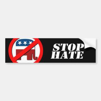 Anti-Republican - Stop Hate Bumper Sticker
