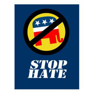 Anti-Republican - Stop Hate Postcard