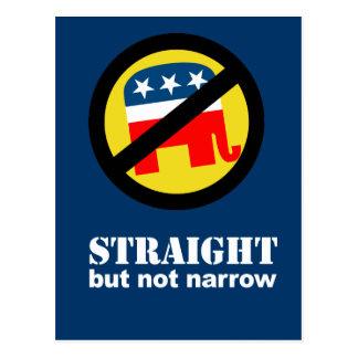 Anti-Republican - Straight but not narrow Postcard