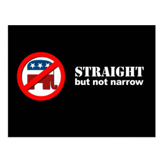 Anti-Republican - Straight but not narrow Postcards