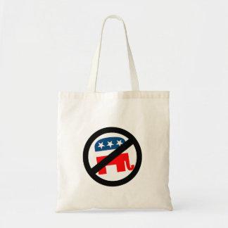 Anti-Republican white Tote Bags