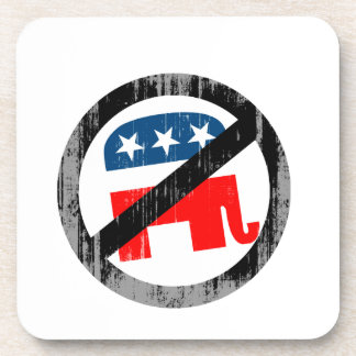 Anti-Republican white Faded png Beverage Coasters