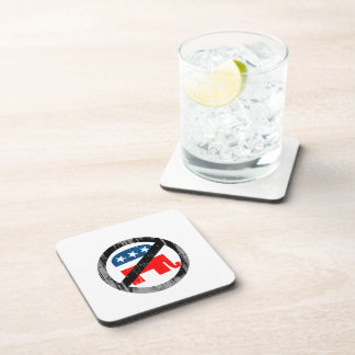 Anti-Republican white Faded png Drink Coaster