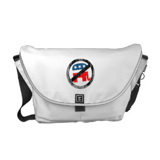 Anti-Republican white Faded png Messenger Bags