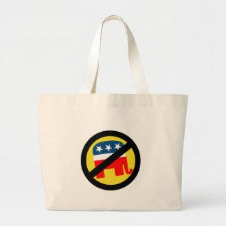 Anti-Republican yellow Tote Bags
