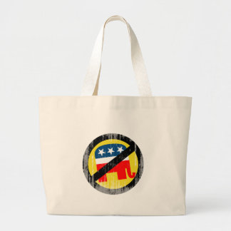 Anti-Republican yellow Faded png Canvas Bags
