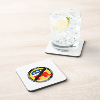 Anti-Republican yellow Faded png Coaster