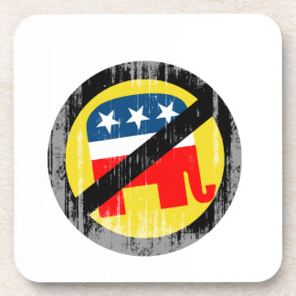 Anti-Republican yellow Faded png Beverage Coasters