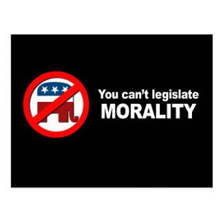 Anti-Republican - You can't legislate Morality Post Card