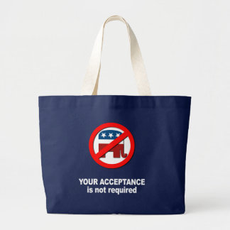 Anti-Republican - Your acceptance is not required Canvas Bag
