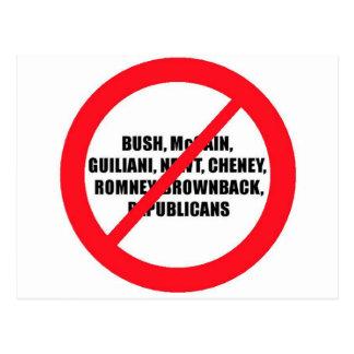 Anti-Republicans Postcard
