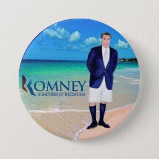 Anti-Romney: Business in Bermuda 7.5 Cm Round Badge