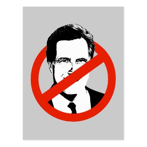 Anti Romney Postcard