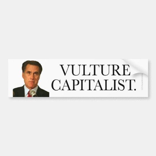 Anti-Romney sticker Vulture Capitalist