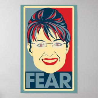 Anti Sarah Palin Fear Pardoy Print
