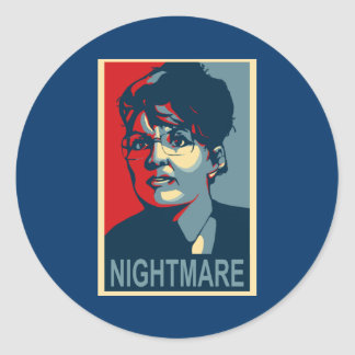 Anti-Sarah Palin Stickers - Nightmare