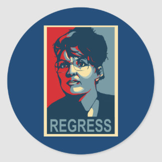 Anti-Sarah Palin Stickers - Regress