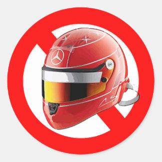 Anti Schumacher Girl Shirt with Logo Round Sticker