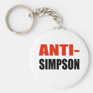ANTI-SIMPSON BASIC ROUND BUTTON KEY RING