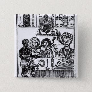 Anti-Smoking Pamphlet 15 Cm Square Badge