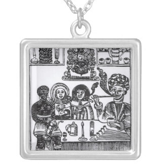 Anti-Smoking Pamphlet Silver Plated Necklace