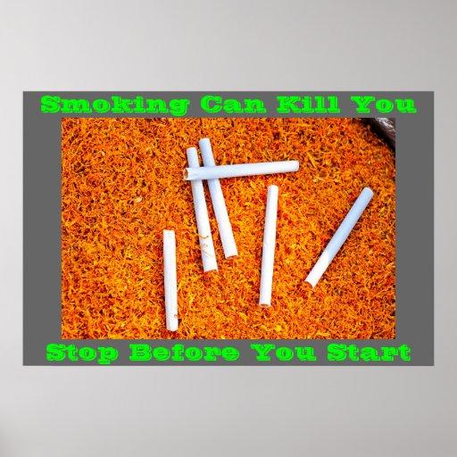 anti smoking posters on Green