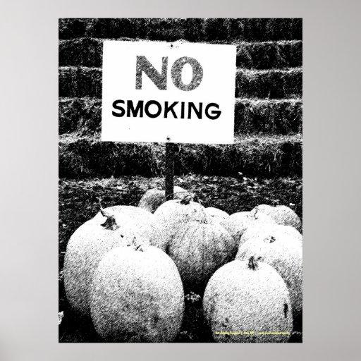 Anti-Smoking Pumpkins - B&W Sketch Print