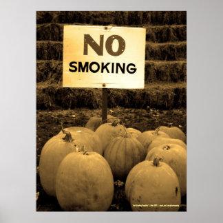 Anti-Smoking Pumpkins - Sepiatone Poster