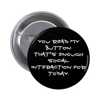 anti social 6 cm round badge