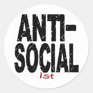 Anti-Social Ist (Anti-Socialist) Classic Round Sticker