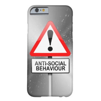 Anti-social warning. barely there iPhone 6 case
